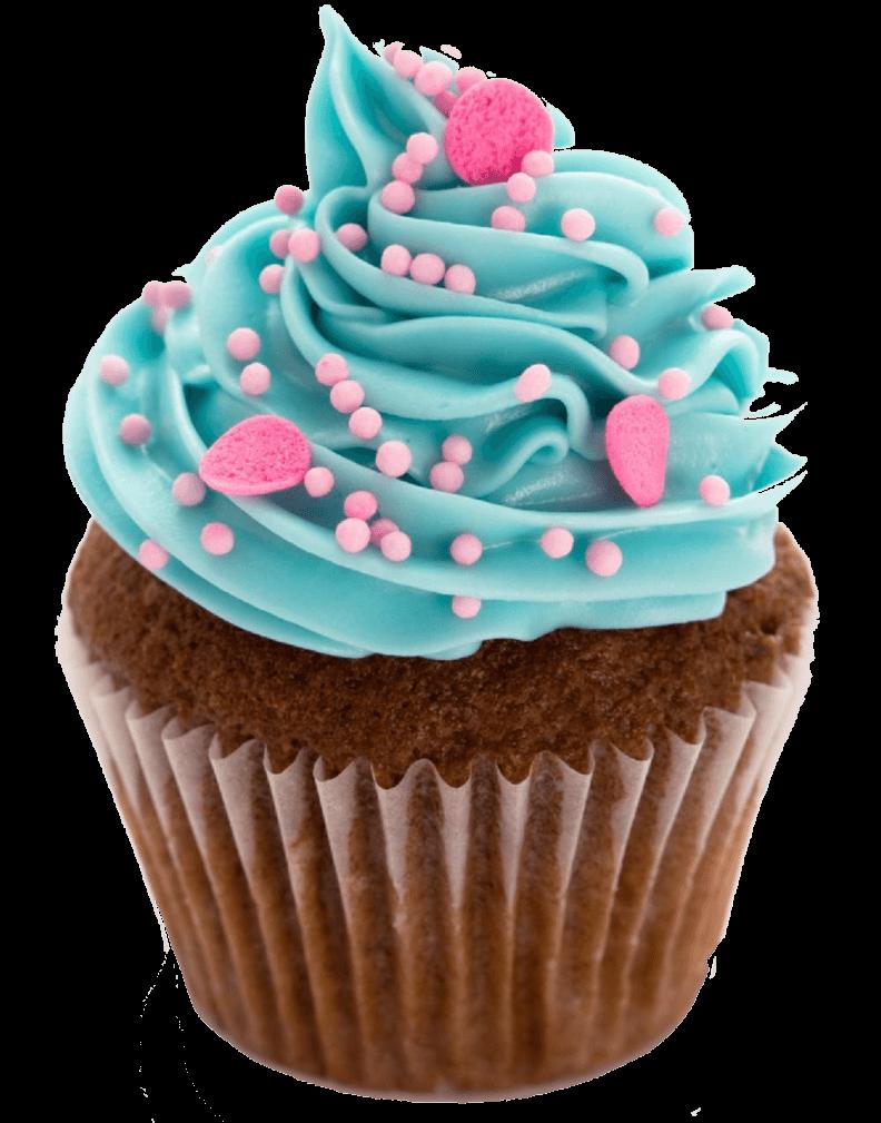 Cupcake Blue transparent PNG.