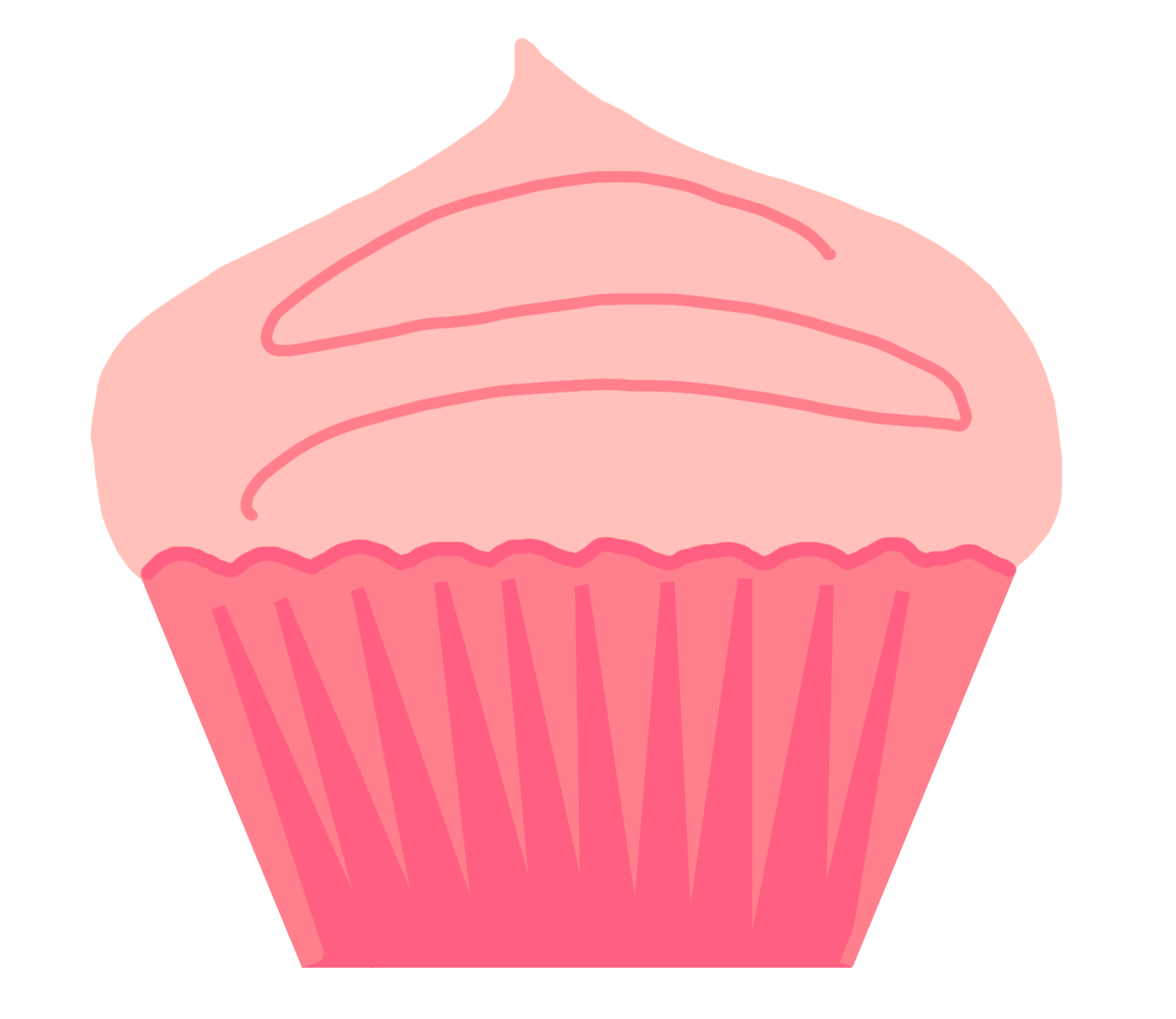 Cupcakes With Sprinkles Clipart.