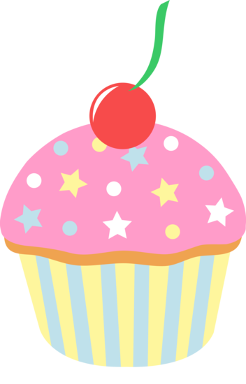 Strawberry Cupcake With Sprinkles and Cherry.