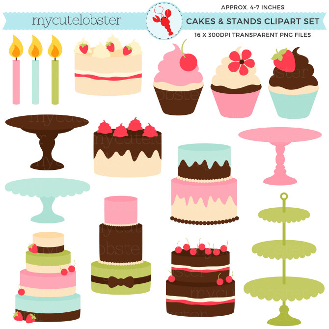 Cake stand clipart.