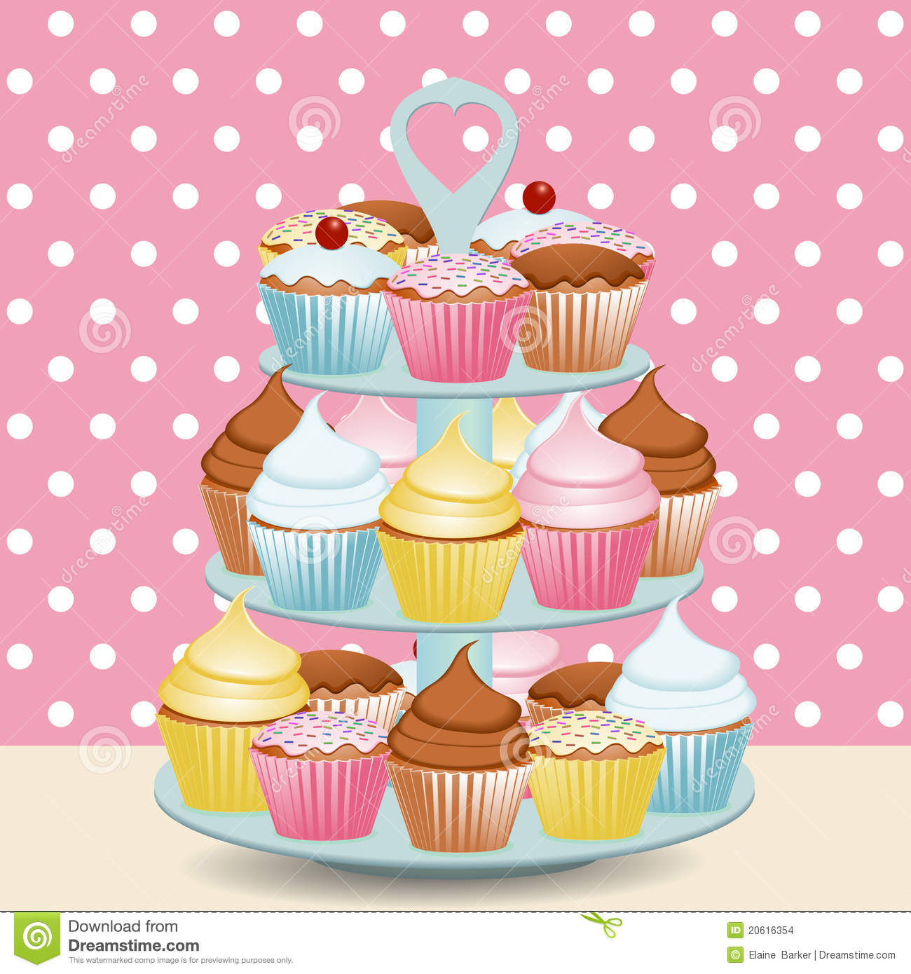 Cupcake Stand Stock Images.