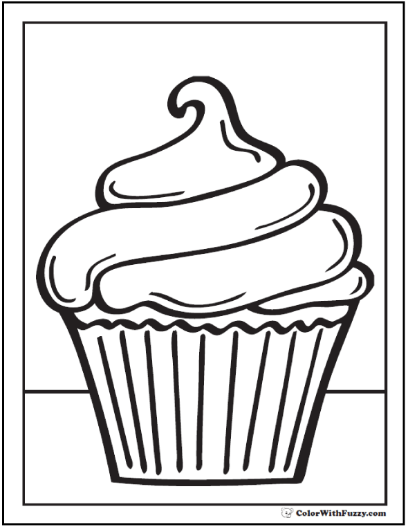 Cupcake Coloring Pages Pdf.