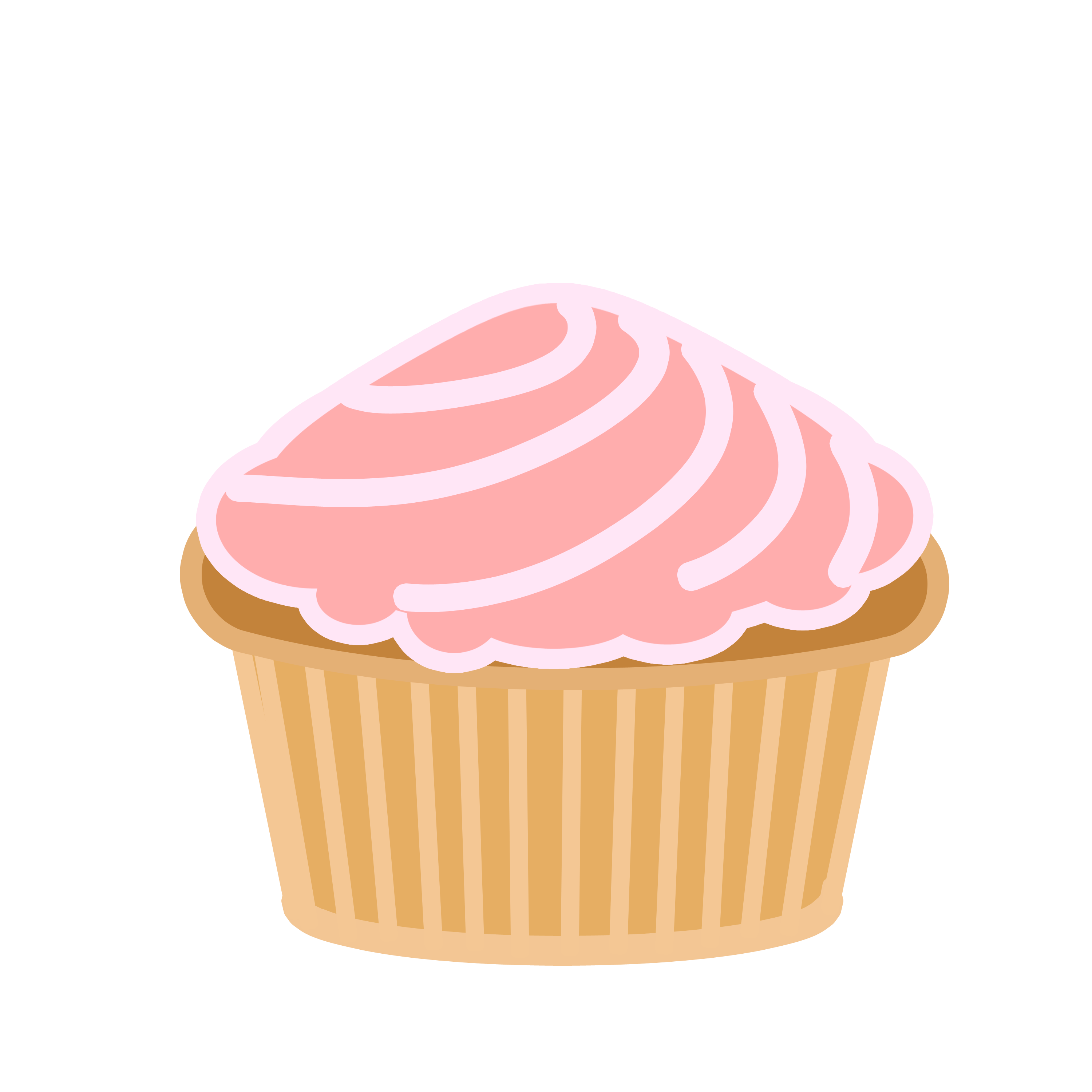 Pink Swirl Cupcake by Quick.