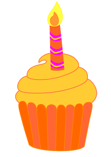 Cupcake Candle Cliparts.