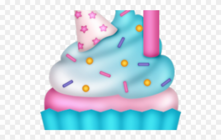 Cupcake Clipart Candle.