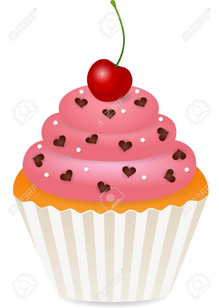 Cupcake with cherry on top clipart 4 » Clipart Portal.