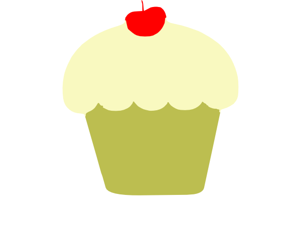Cupcake With Cherry On Top Clip Art at Clker.com.