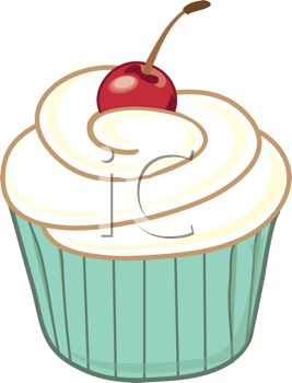 Cupcake With Cherry On Top Clipart & Free Clip Art Images #2237.