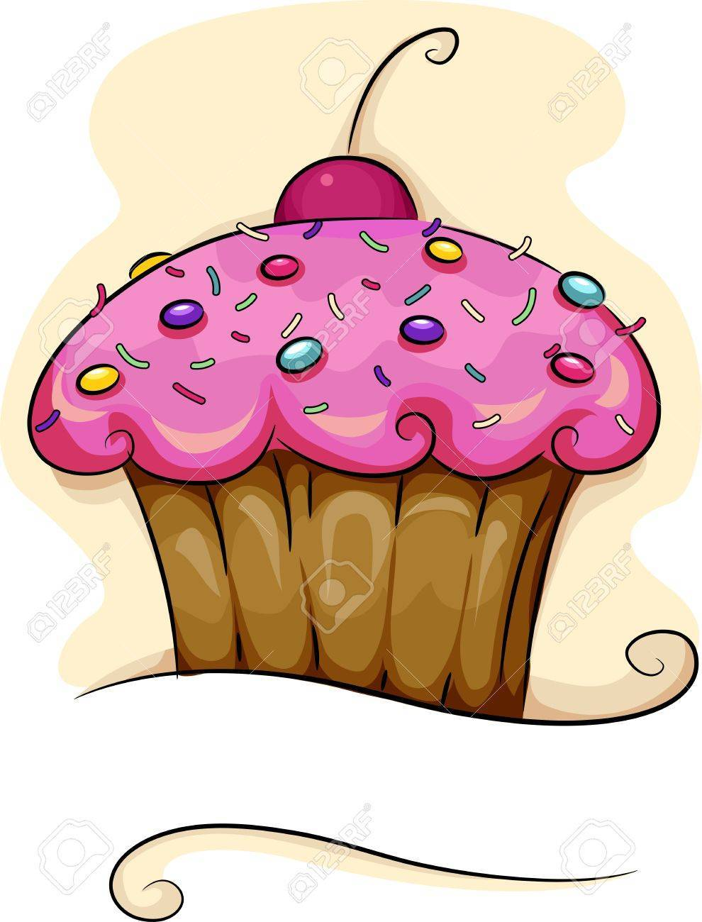Cupcake with cherry on top clipart 2 » Clipart Portal.