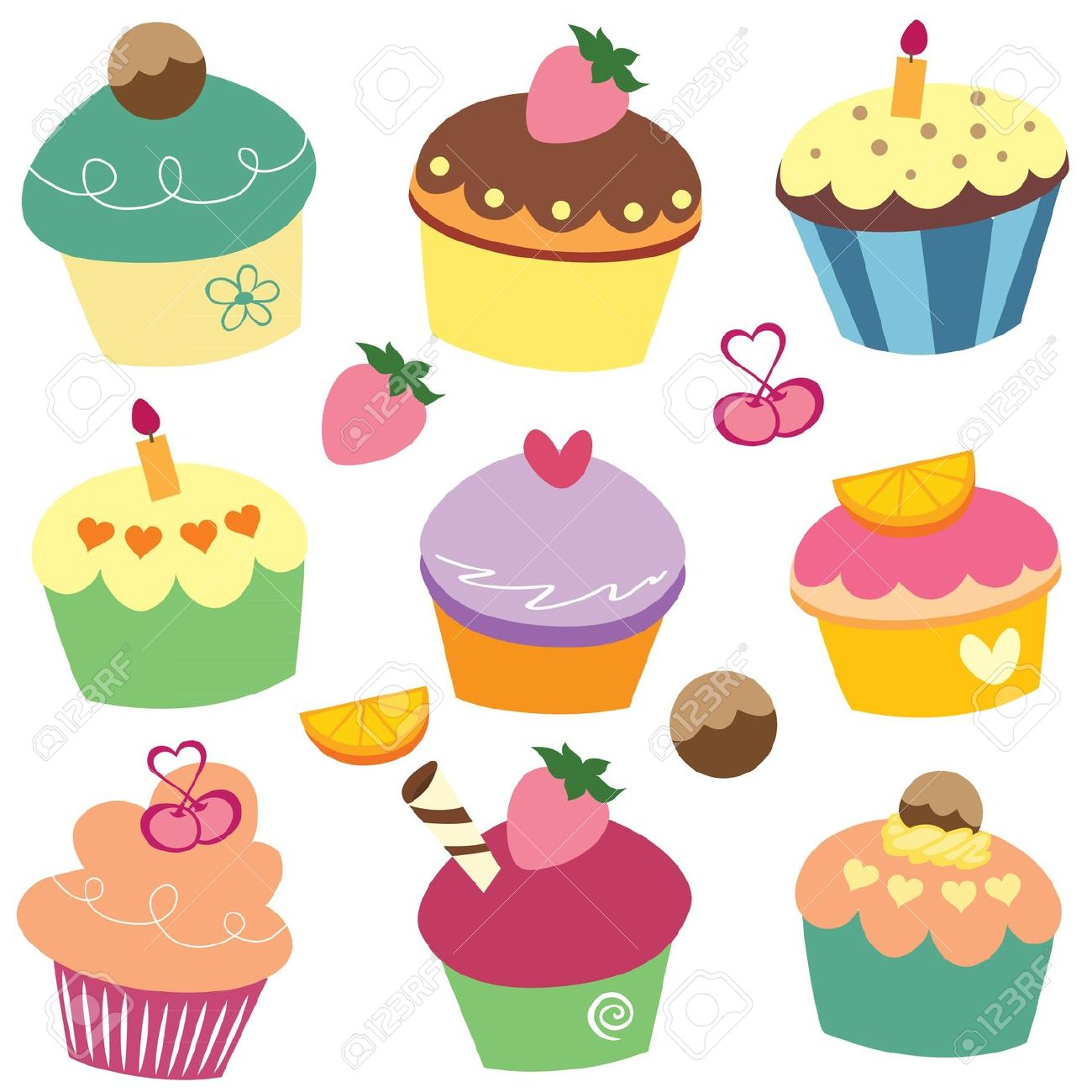 monthly cupcake clipart #3
