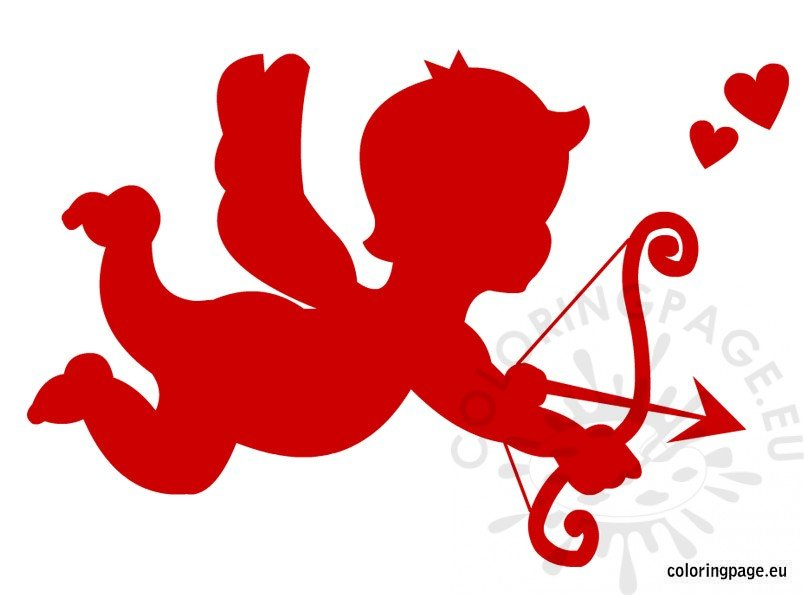 Red cupid clipart.
