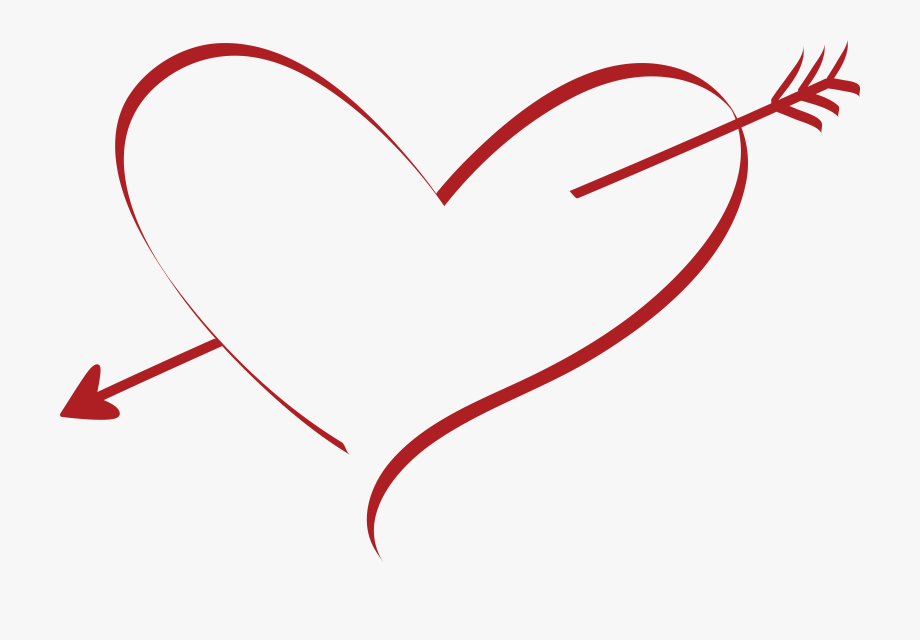 Free Clipart Of A Cupid Arrow Heart.
