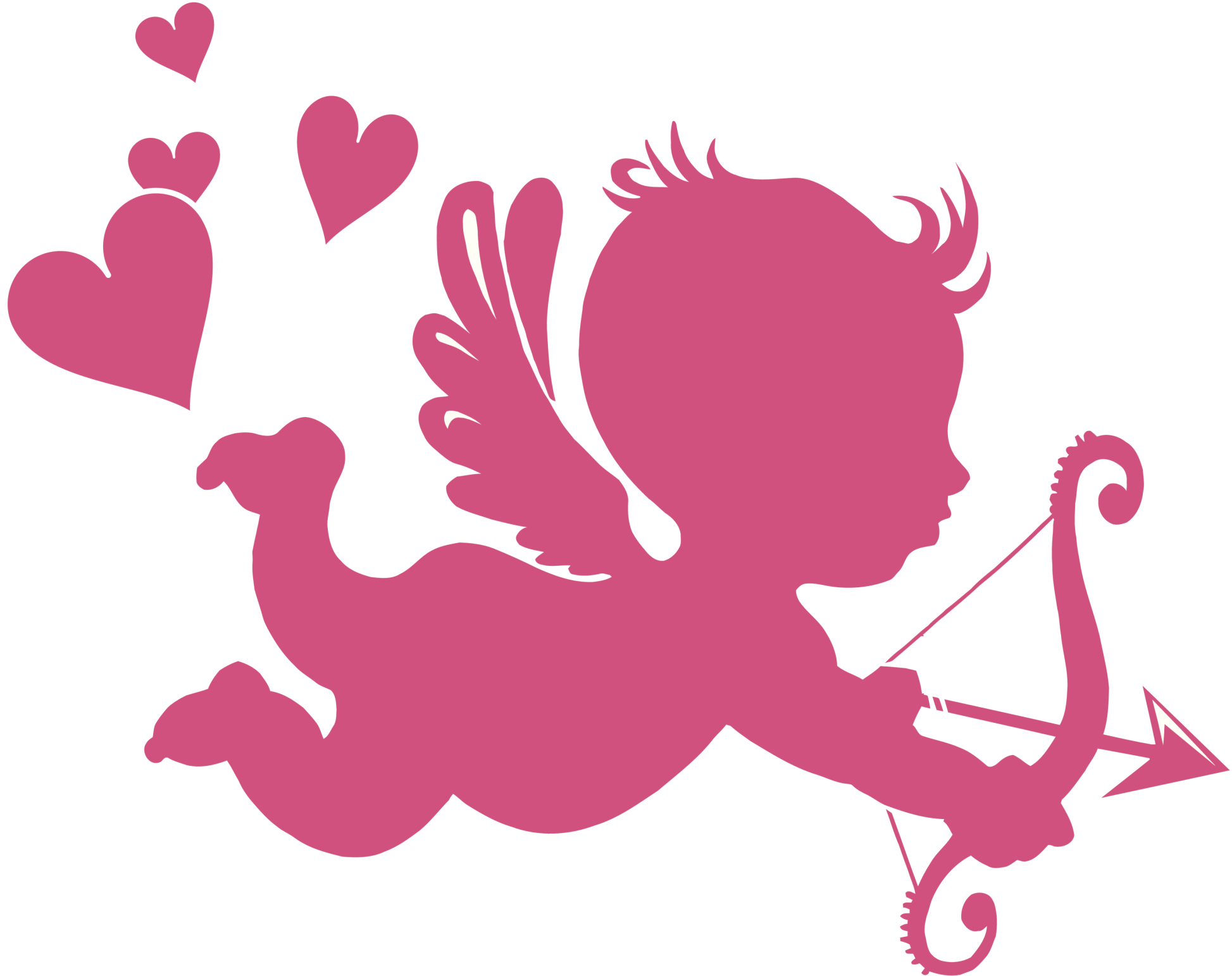 Pink Cupid Clipart.