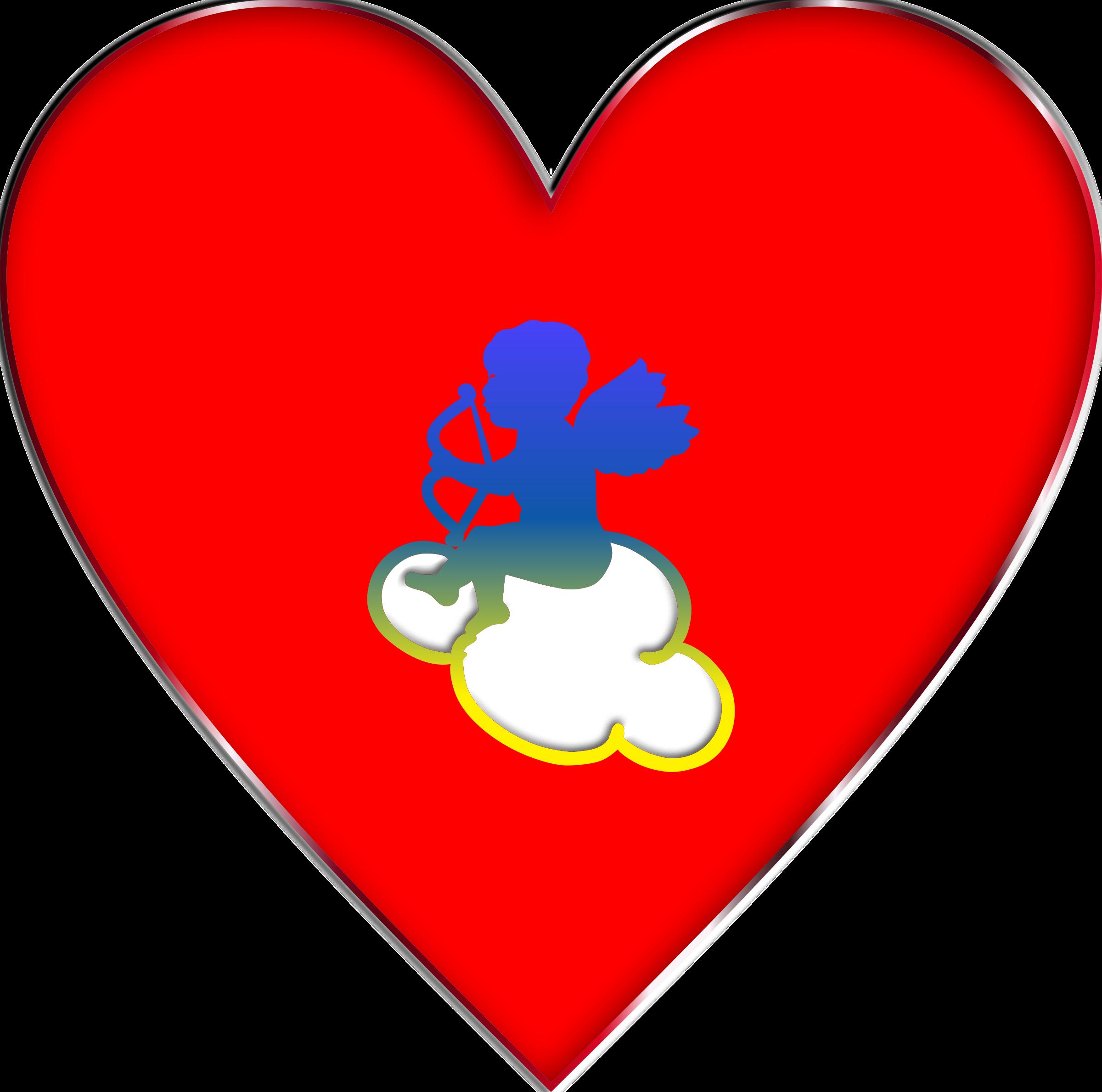cupid heart clipart #8