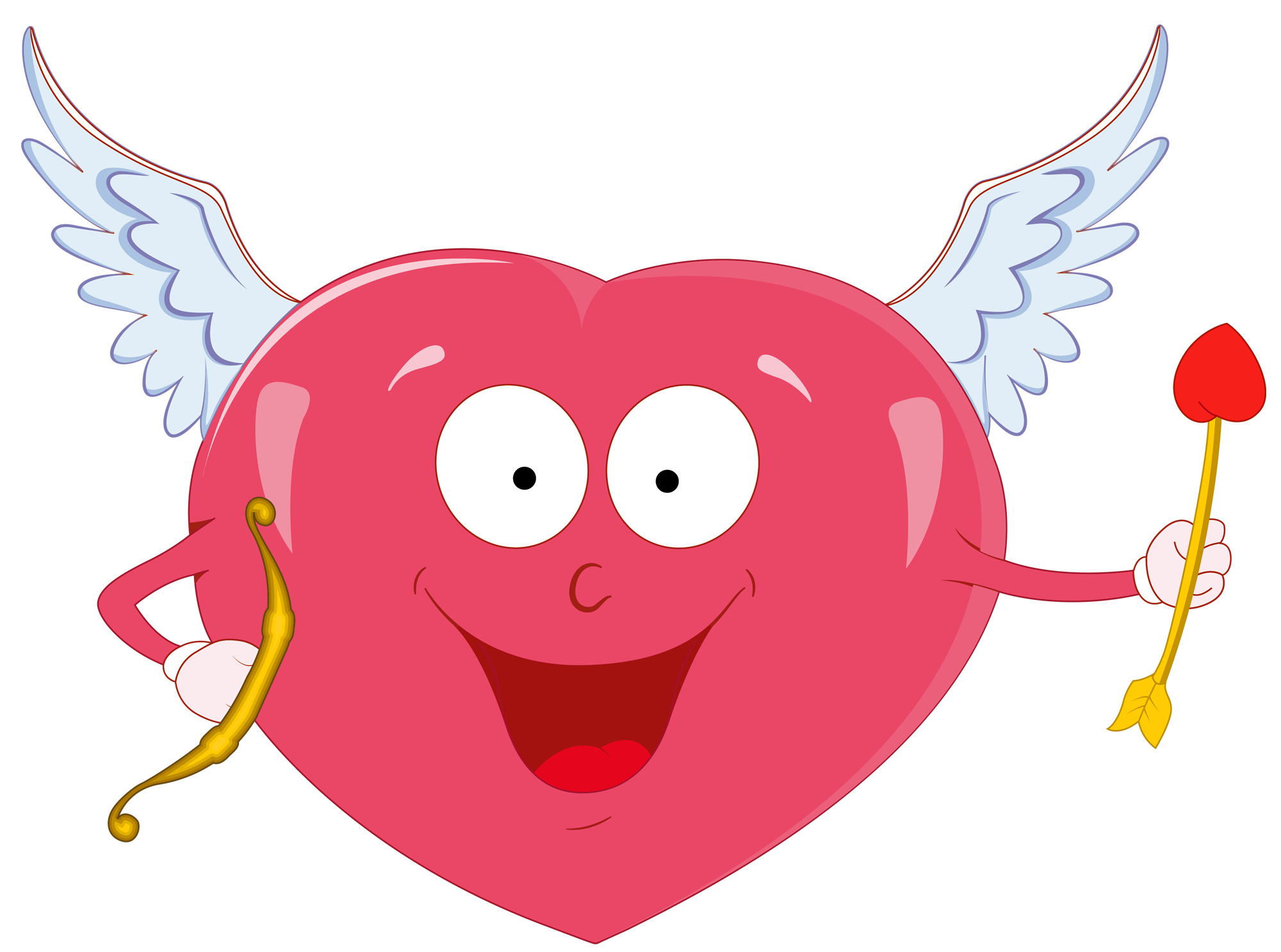 cupid heart clipart #2