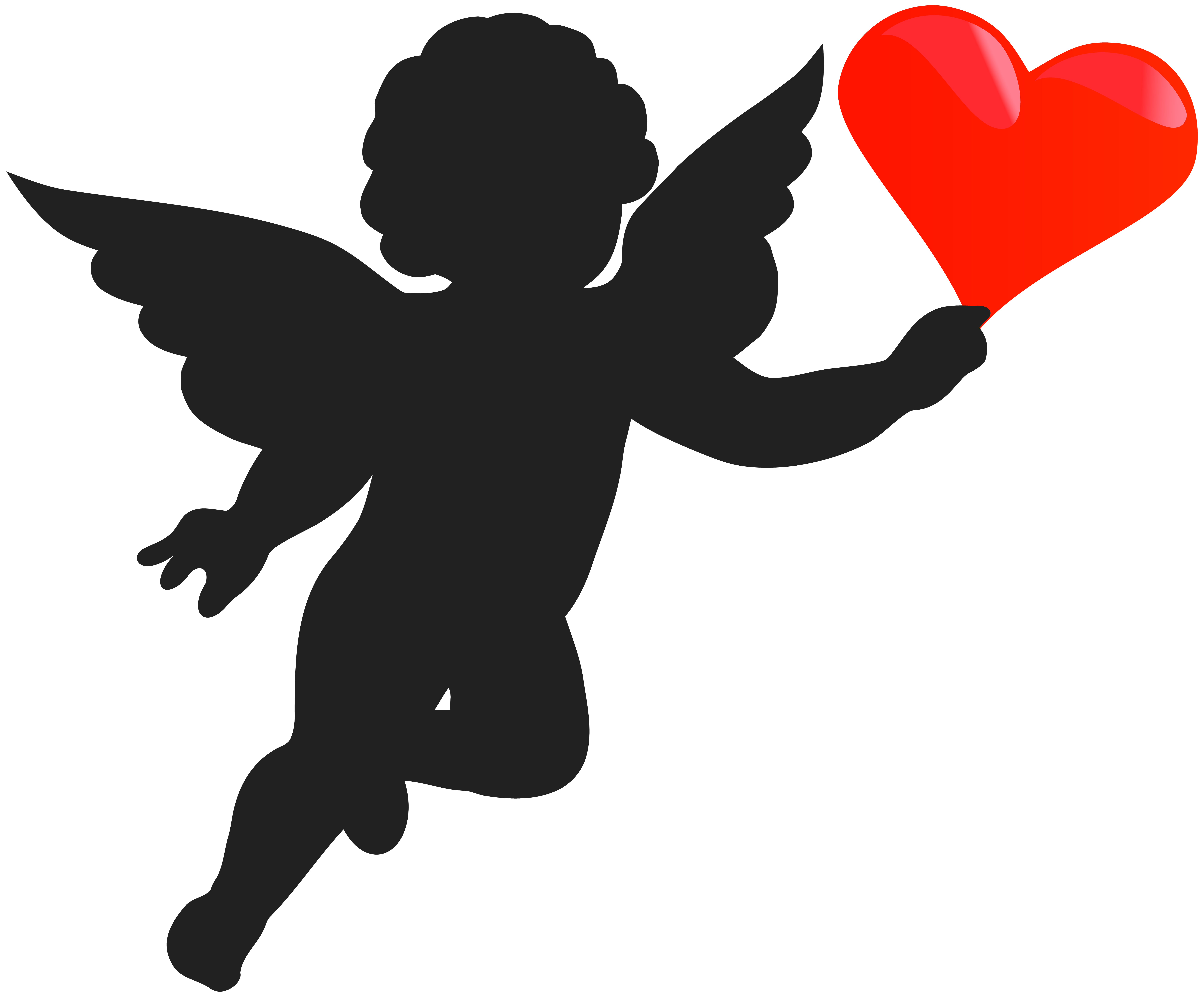 Banana Clip Art Black And White cupid heart clipart - ...