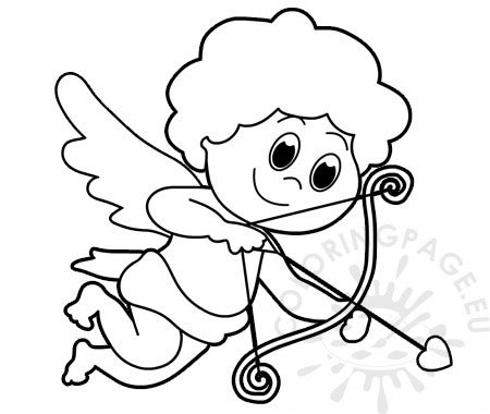 Cute Cupid Coloring Pages Valentines Day.