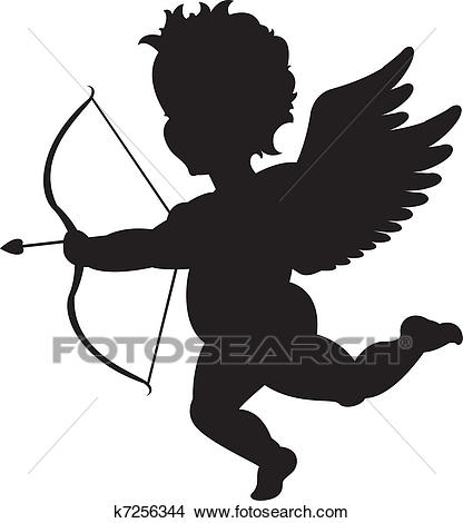 Cupid silhouette Clipart.