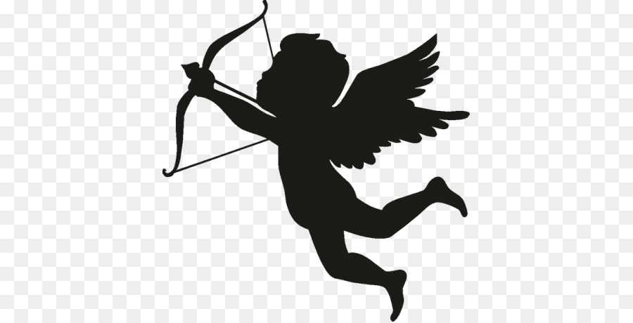 Cupid Silhouette png download.
