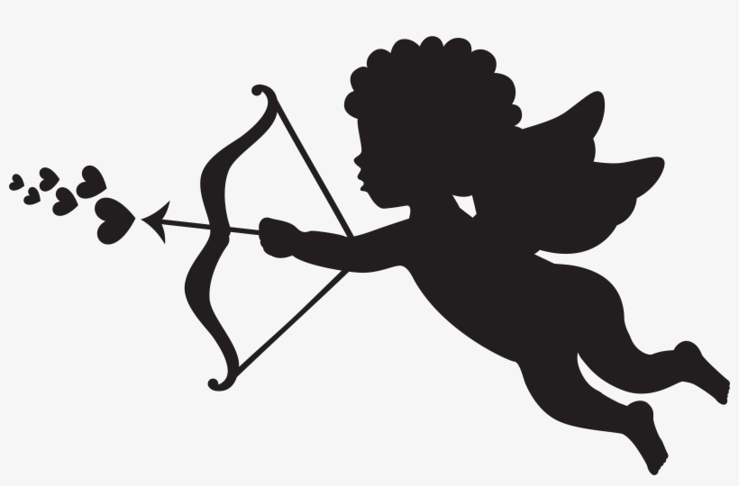 Cupid Silhouette Png Clip Art.