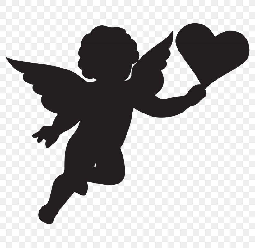 Cherub Cupid Silhouette Clip Art, PNG, 800x800px, Cherub.