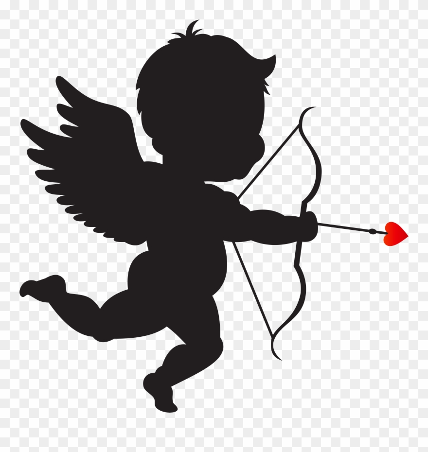Cupid With Bow Silhouette Png Clip Art Imageu200b Gallery.