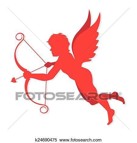 Cupido vector Clipart.