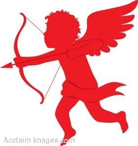 Clip Art Half Cupid Arrows Clipart.