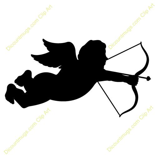 Cupid with bow and arrow clip art.