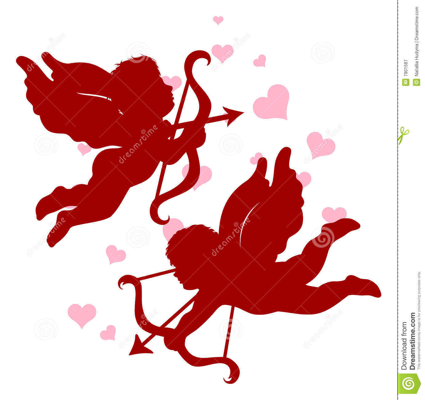 Cupids Frames Clipart.