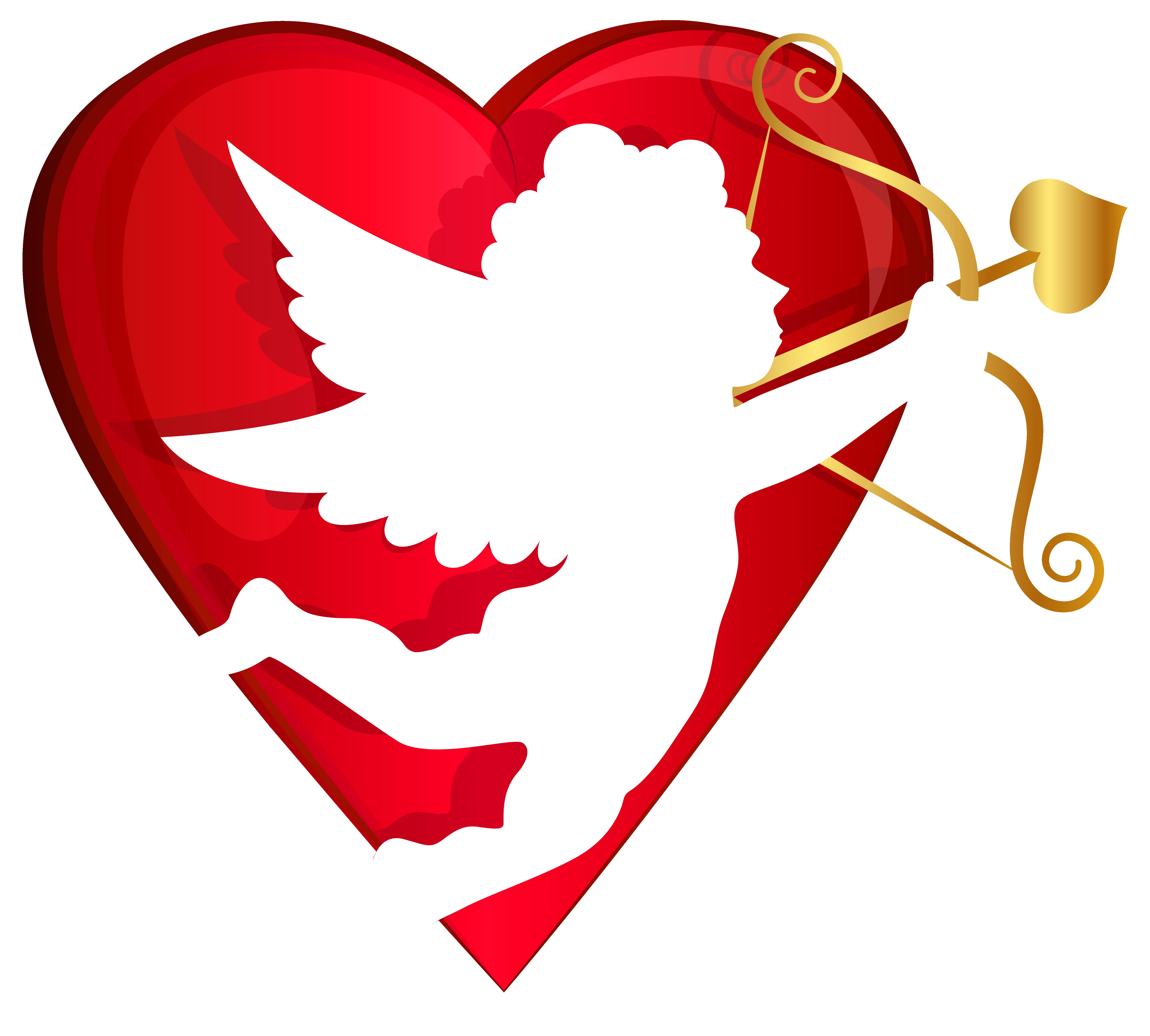 cupid heart clipart #5