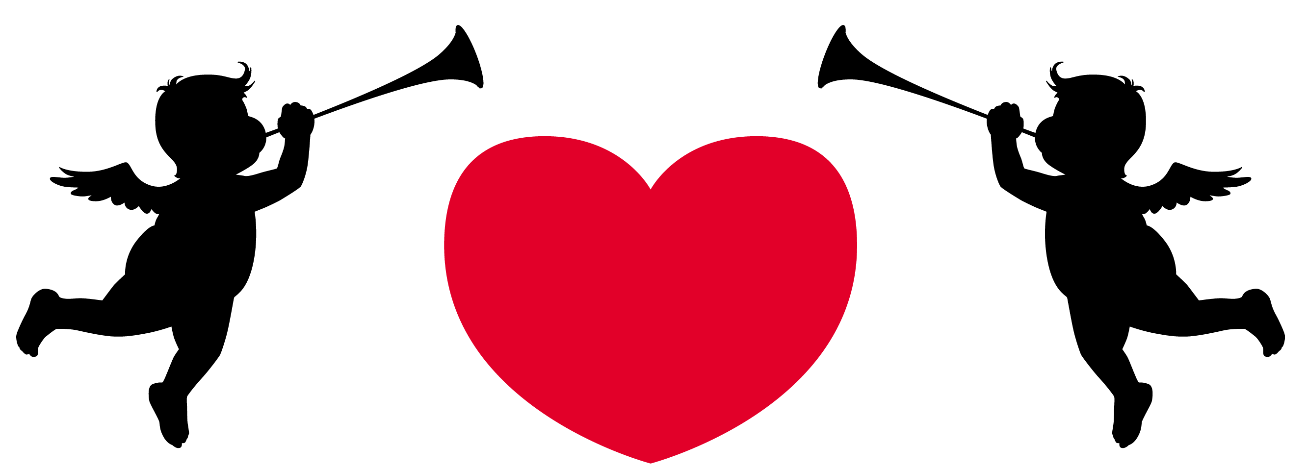 Cupid heart clip art.