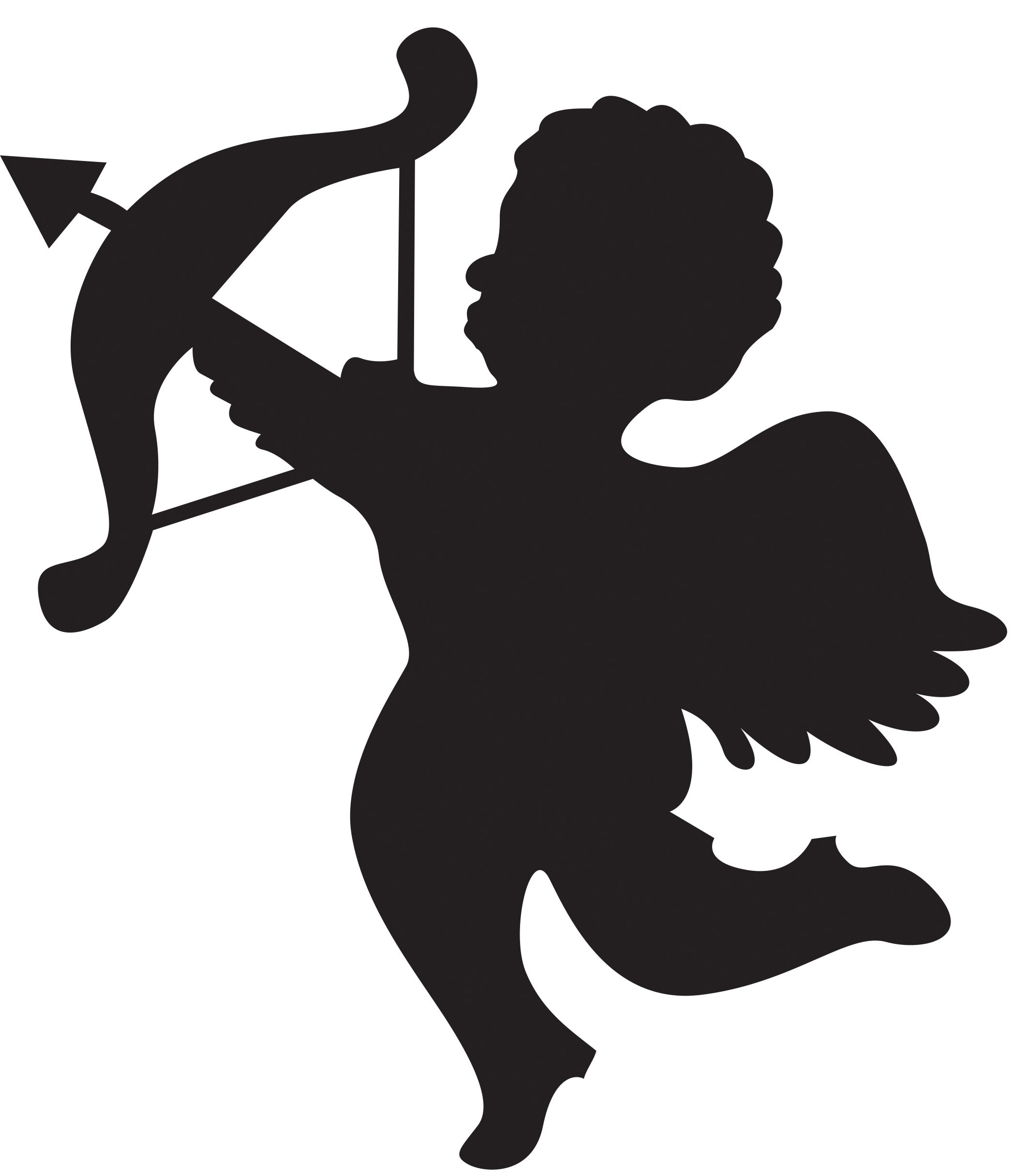 Free Clipart Person Shot With Cupids Arrow.
