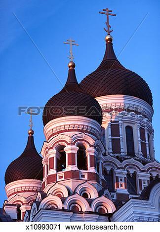 Stock Photography of Estonia, Tallinn, Alexander Nevsky Cathedral.