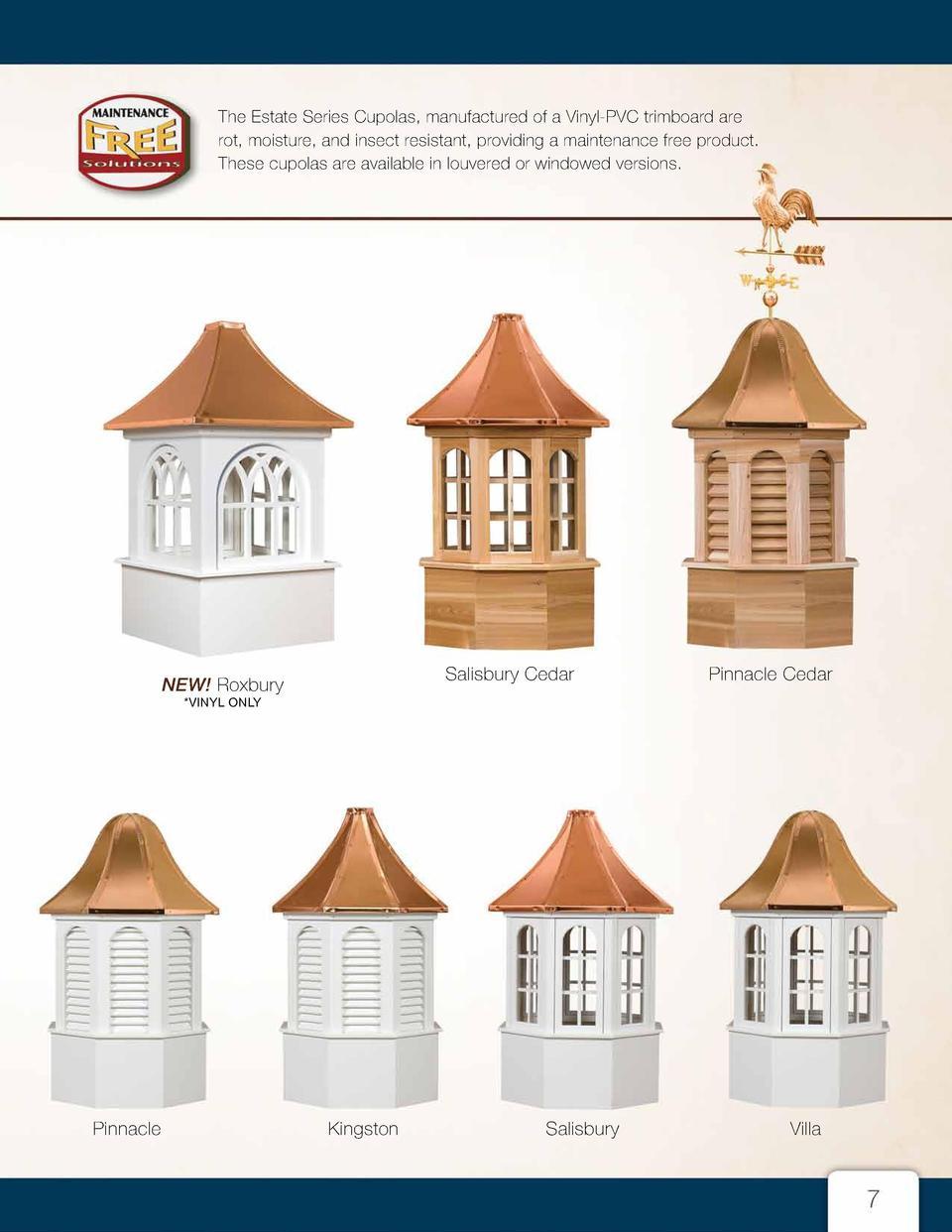 Cupolas & Weathervanes : simplebooklet.com.