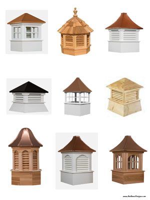 Cupolas and Weathervanes.