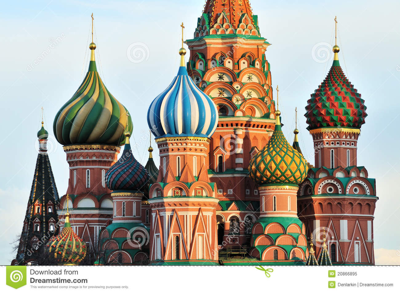 Cupola Of St. Basil's Cathedral Royalty Free Stock Photo.