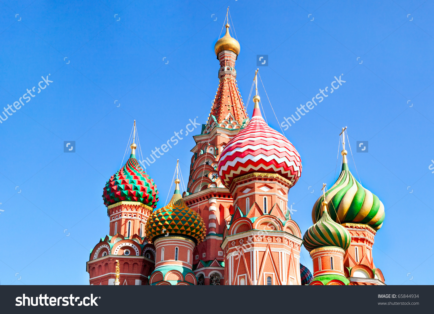 Cupola Of Saint Basil'S Cathedral On Red Square, Detailed View.