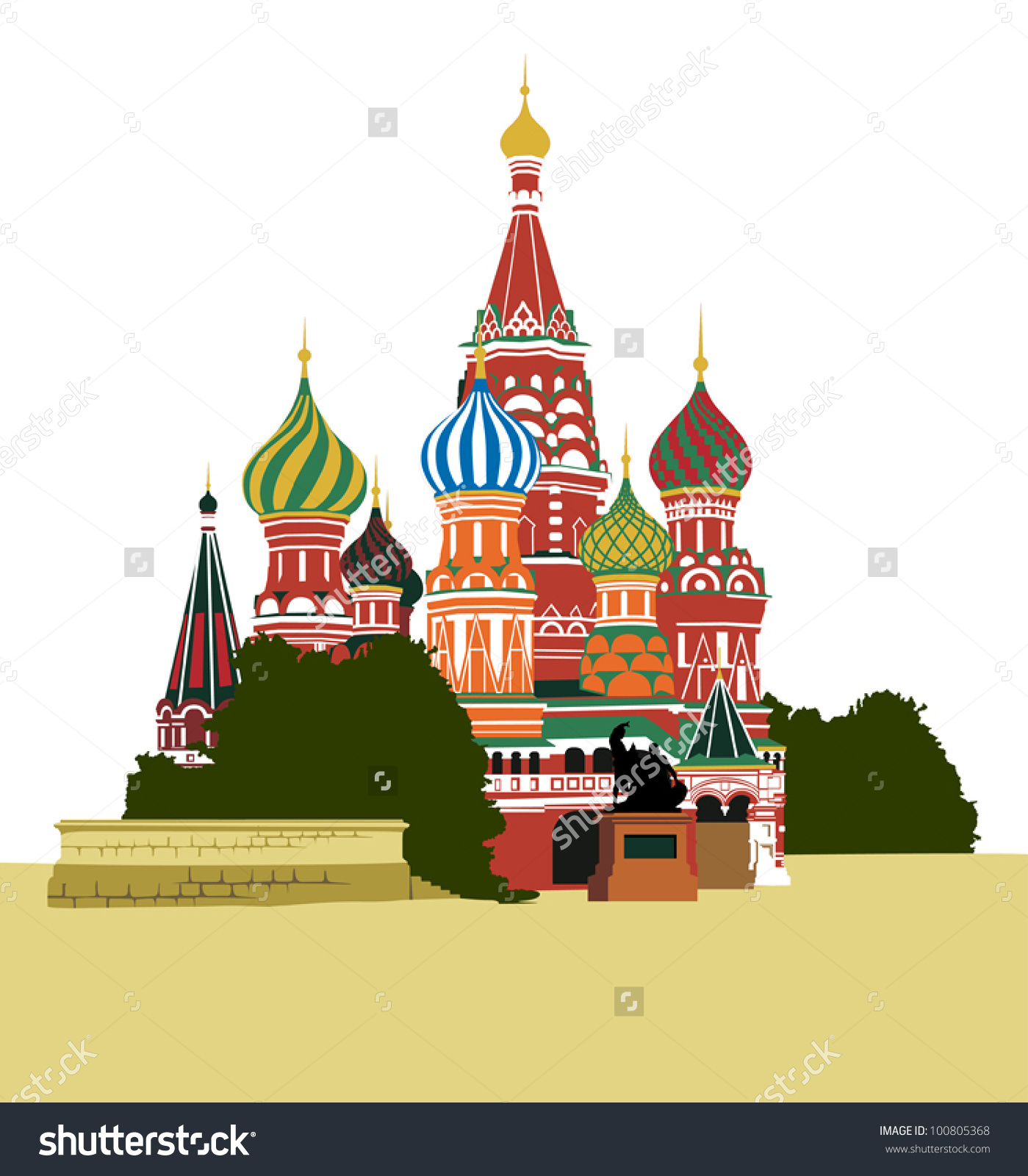 St basil's cathedral clipart.