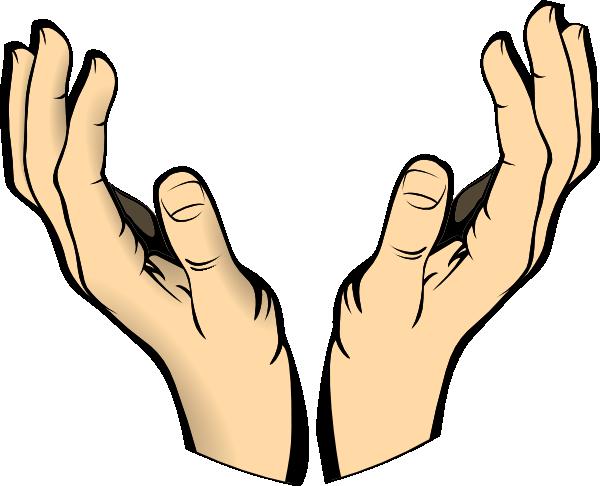 Cupped hands clip art.
