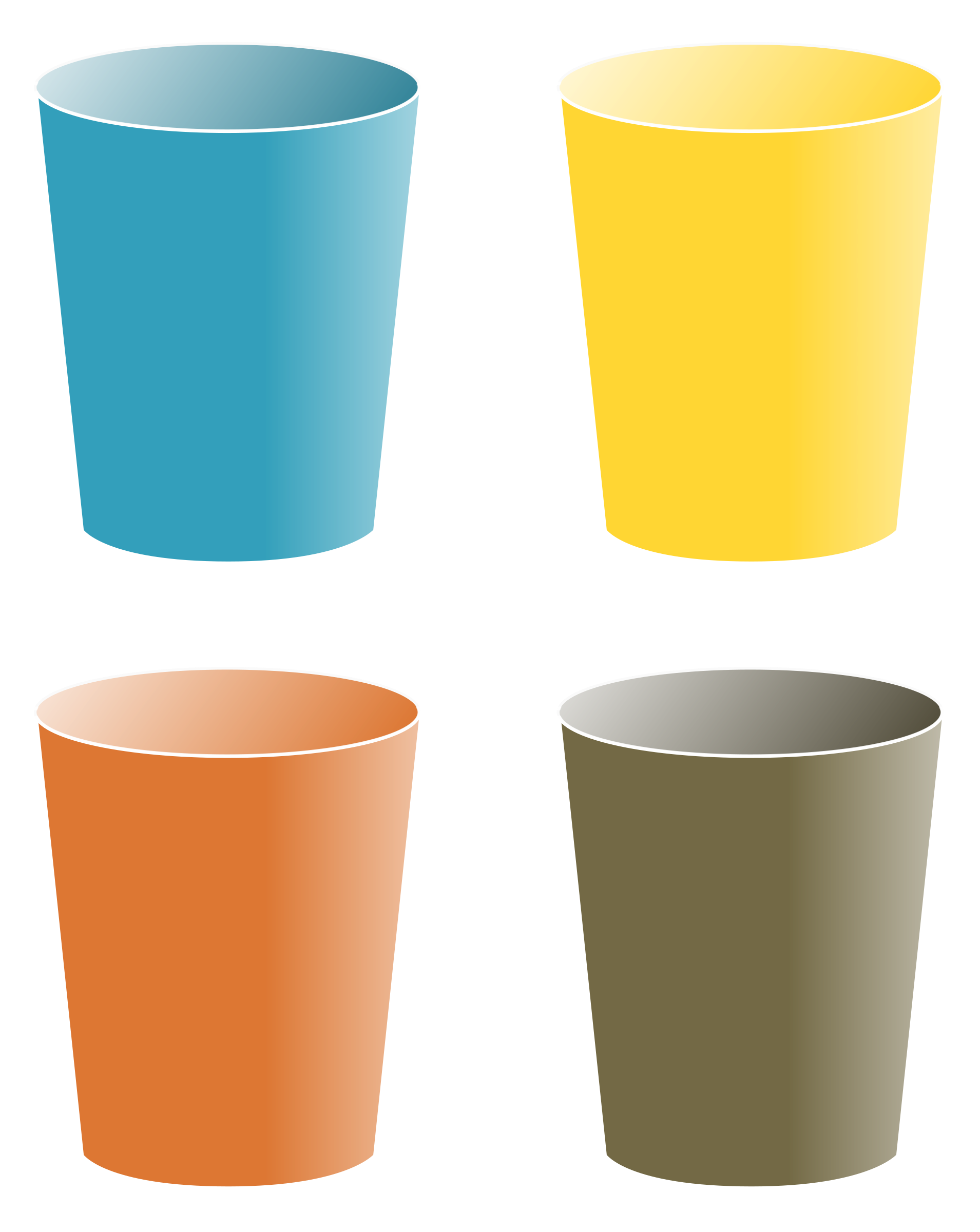 Brown Colored Drinking Glasses