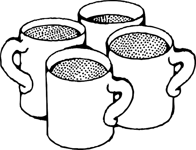 black, outline, drawing, cup, white, cartoon, hot, free.