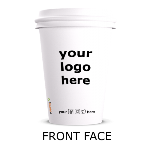 7 Oz Special Printed Paper Cups with Logo (10,000 pcs).