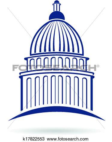 Clipart of Capitol cupula Logo k17822553.