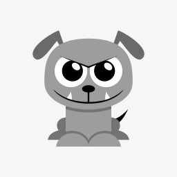 Cur, Gray, Dog, Flat PNG Image And Clipart #204893.