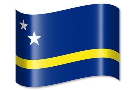 Flag of Curacao Clipart Image.