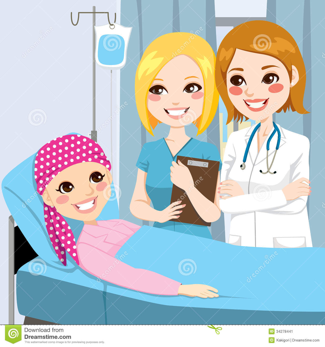 Cancer treatment clipart.