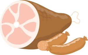 Lunch meat ham clipart.