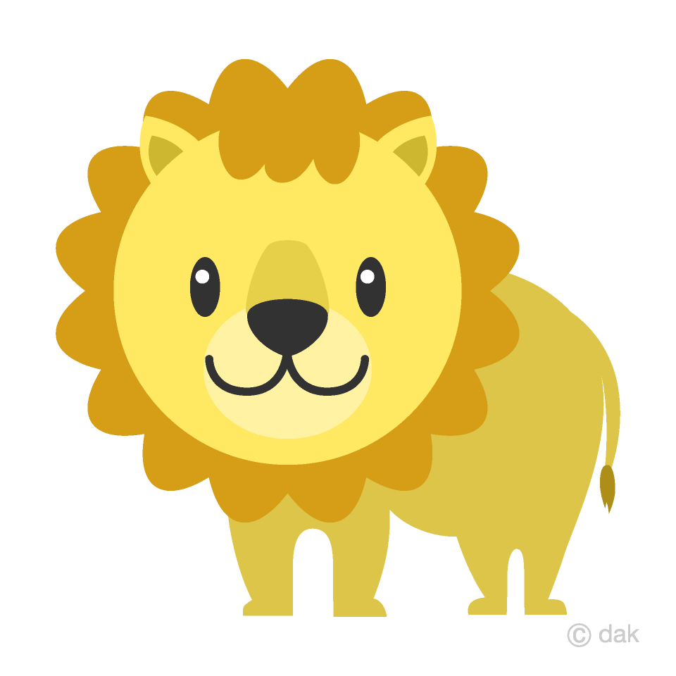 Free Cute Lion Clipart Image|Illustoon.