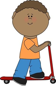 Curious Black Boy Clipart.